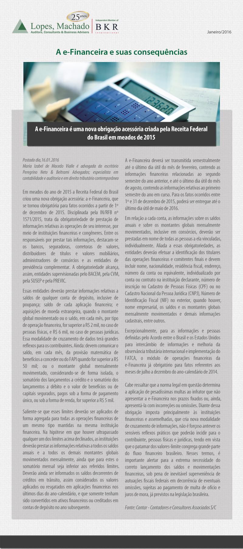 NOTÍCIAS CURTAS Nº 47